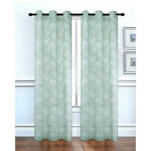 Elegant Paisley Curtain Panels (Set Of 2)
