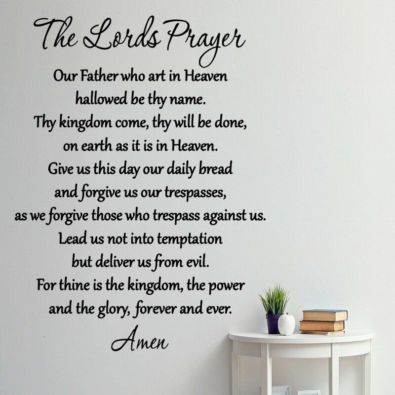 ec7ef40f46945 VWAQ The Lord's Prayer Bible Wall Decal & Reviews | Wayfair