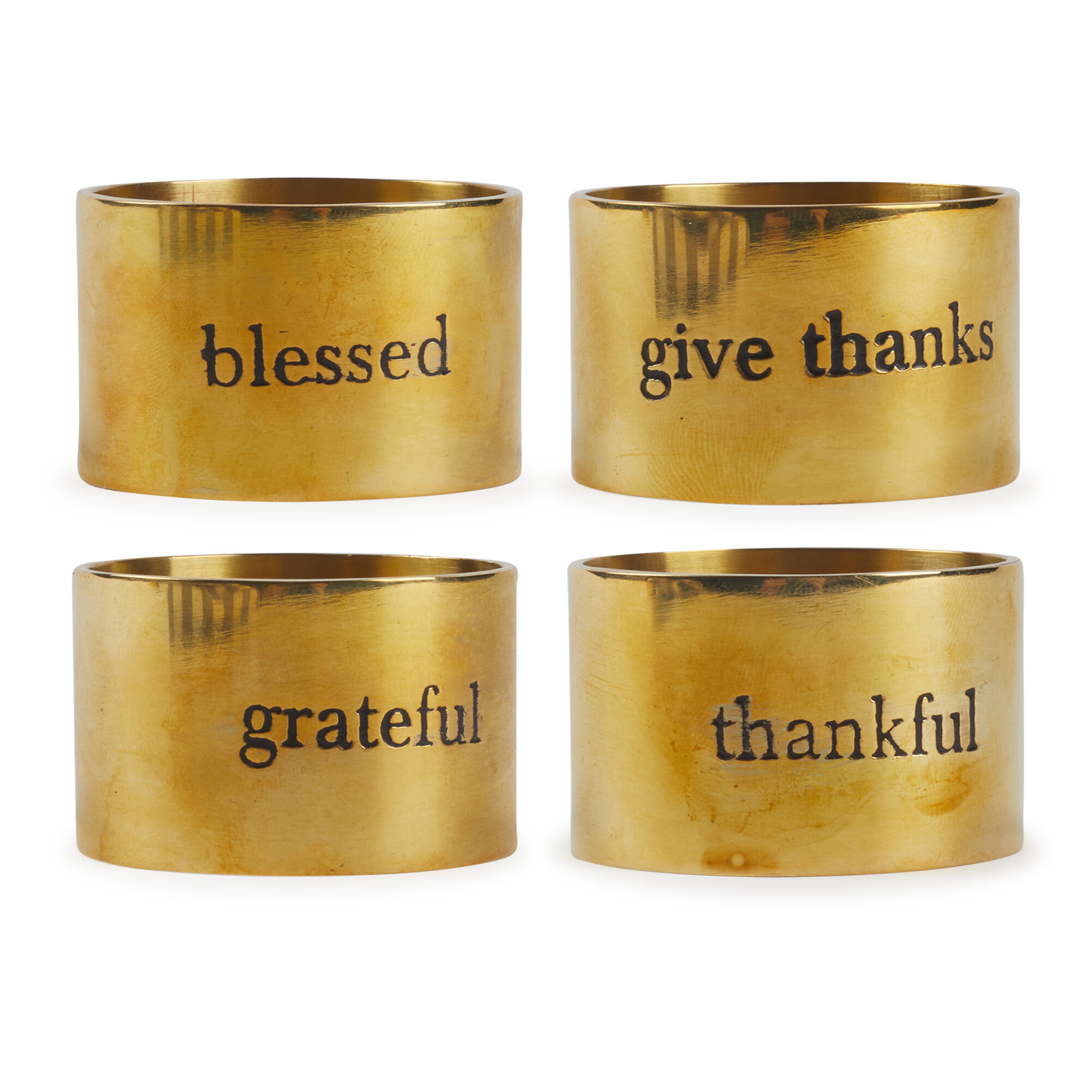 The Holiday Aisle Grateful Stamped Napkin Ring Wayfair
