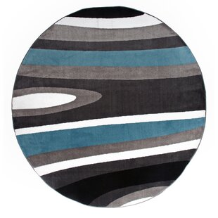 Allison Gray/White Area Rug by Ebern Designs