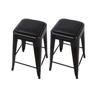 Apsel 24 Bar Stool (Set of 2) by 17 Stories