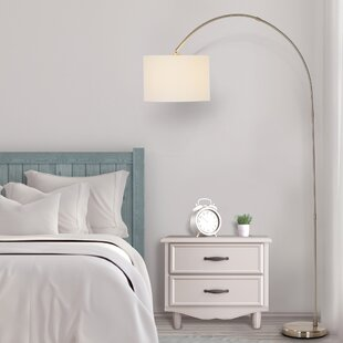 Arched Drum Shaped Floor Lamps You\'ll Love | Wayfair