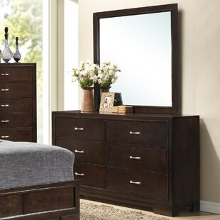 Voigt 6 Drawer Double Dresser with Mirror