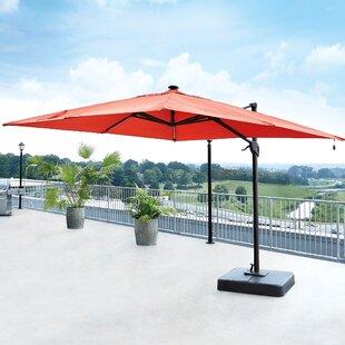 Bay Isle Home Gypsou 9.5' Square Lighted Umbrella