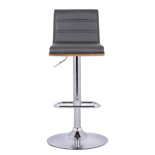 Branch Adjustable Height Swivel Bar Stool by Wade Logan