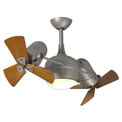 17 Stories 41 Valerian 6 Blade LED Dual Ceiling Fan with Wall Remote