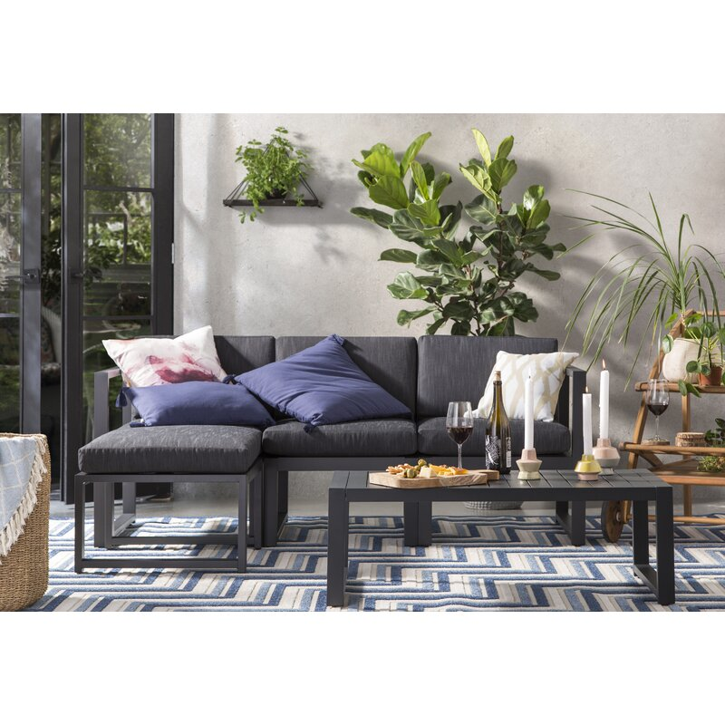 Charmant Mirando 5 Piece Sectional Set With Cushions