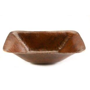 Premier Copper Products Old World Metal Rectangular Vessel Bathroom Sink