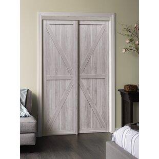 Paneled Manufactured Wood Trident Sliding Closet Door