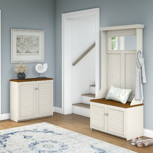Fairview Entryway Storage Set with Hall Tree, Shoe Bench and Accent Cabinet by Beachcrest Home