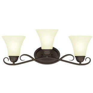 Reviews Dunmore 3-Light Vanity Light By Westinghouse Lighting