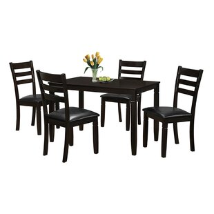 Felipe 5 Piece Dining Set Latitude Run