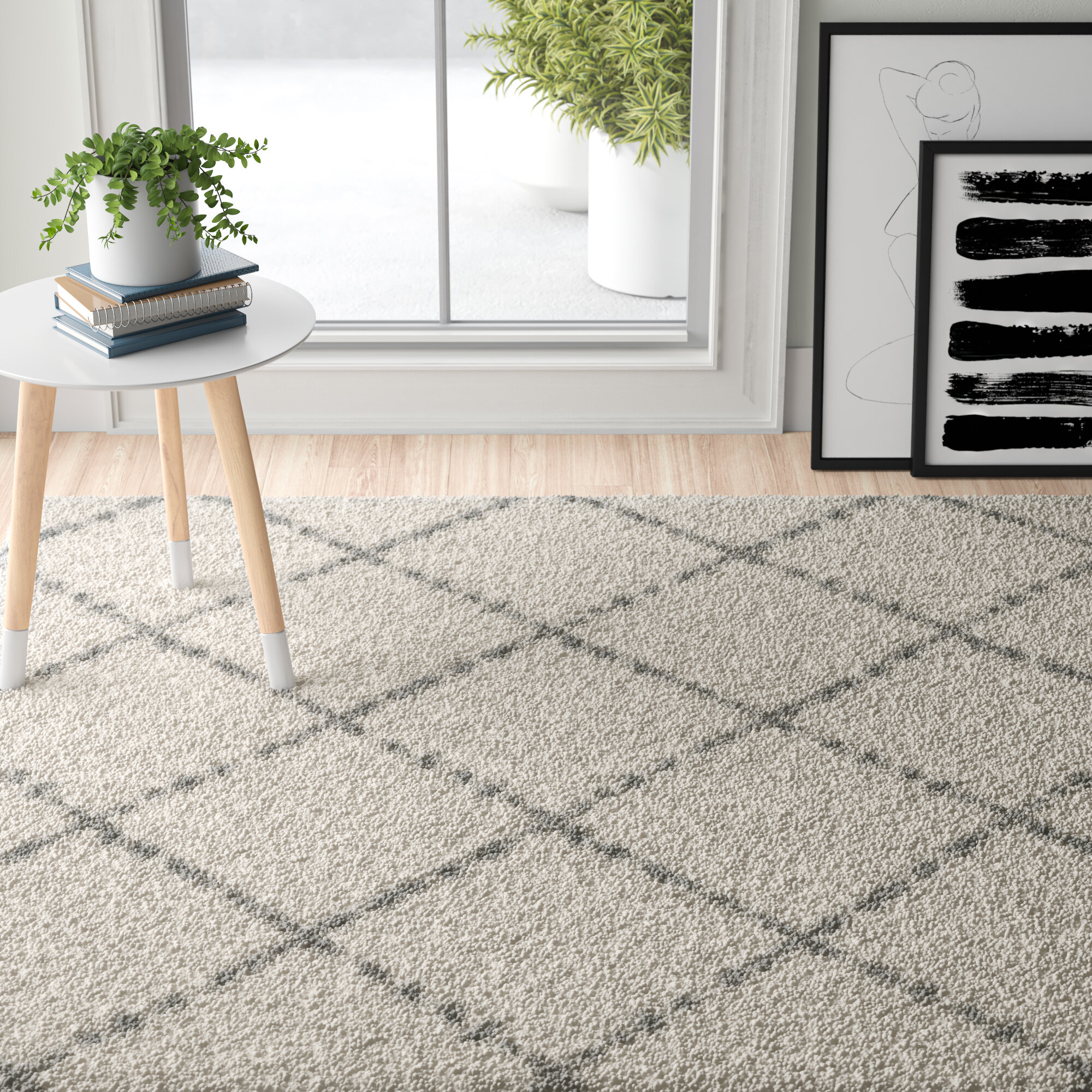 Zipcode Design Deon Cream Rug Reviews Wayfair Co Uk