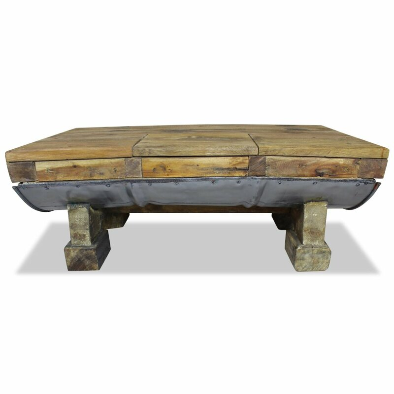 Williston Forge Kempson Solid Reclaimed Wood Coffee Table Reviews Wayfair Co Uk