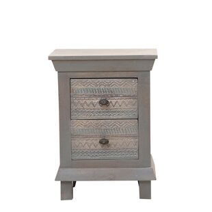 Kensal 2 Drawer Bedside Table By World Menagerie