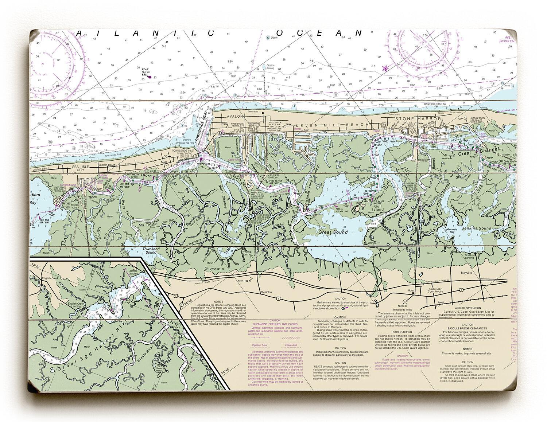 Longshore Tides Sea Isle City Avalon Stone Harbor Nj Graphic Art On Wood Wayfair