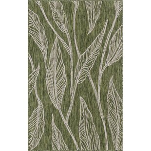Kyser Green/Gray Indoor/Outdoor Area Rug