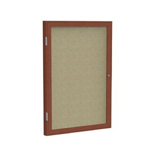Ghent 1 Door Enclosed Fabric Bulletin Boards with Wood Frame by Ghent