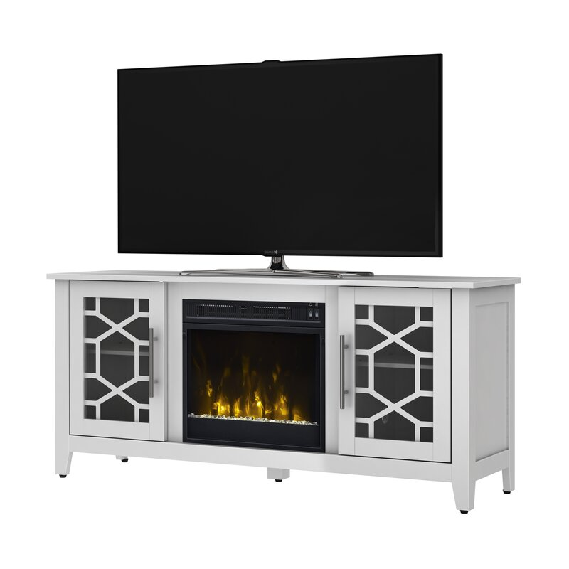 Jennings 54 TV Stand with Fireplace Three