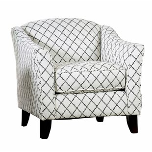 Bostwick Fabric Wooden Armchair