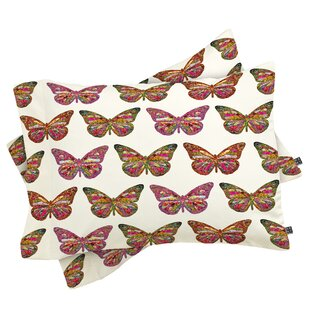 Bianca Green Butterflies Fly Pillowcase