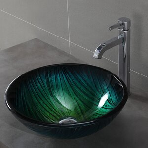 Nei Glass Circular Vessel Bathroom Sink