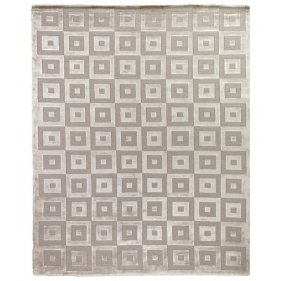 Moreno Velvet Hand Knotted Beigelight Gray Area Rug Exquisite Rugs Rug Size Rectangle 9 X 12