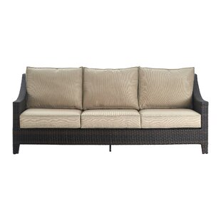 Tahoe Outdoor Wicker Patio Sofa with Cushions