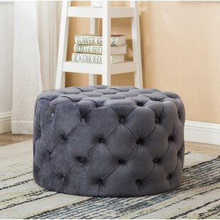 Bright Round Tufted Cocktail Ottoman