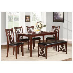 Sobel Dinette 6 Piece Solid Wood Dining Set Red Barrel Studio