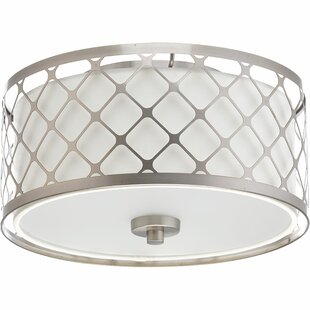 Latitude Run Komal 1-Light Metal Flush Mount