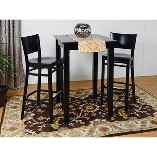 Irons Wood Seat 3 Piece Pub Table Set Winston Porter