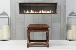 Darby Home Co Wellesley Leather Bench