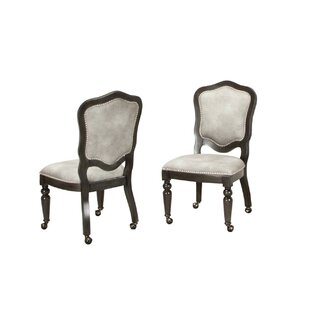 Compare prices Oroville Upholstered Dining Chair (Set of 2) by Canora Grey Reviews (2019) & Buyer's Guide