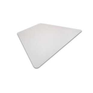 Cleartex Ultimat Corner Workstation Low And Medium Pile Carpet Straight Edge Chair Mat By Floortex