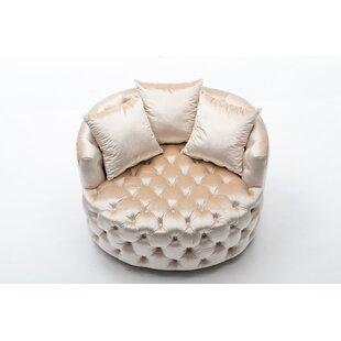 Eudy Swivel Barrel Chair by Rosdorf Park