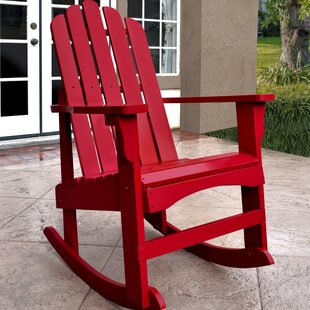 Janes Solid Wood Rocking Adirondack Chair