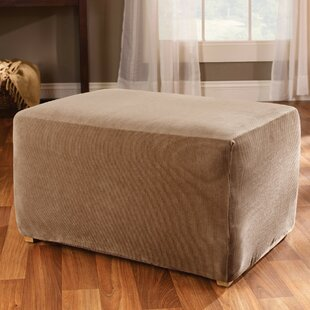 Stretch Stripe Box Cushion Ottoman Slipcover By Sure Fit