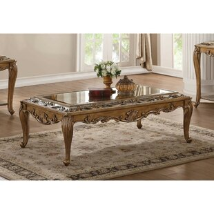 Annis Traditional Rectangular Wooden Coffee Table