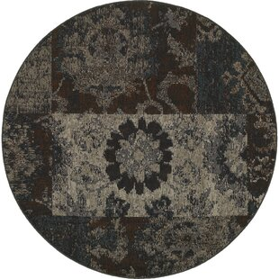 Read Reviews Raiden Charcoal/Brown Area Rug ByBungalow Rose