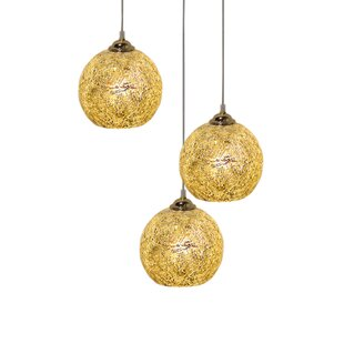 Pettey Glass 1-Light Globe Pendant by Wrought Studio
