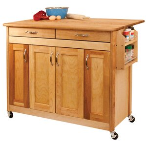 Kitchen Island with Wood Top by Catskill Craftsmen, Inc. Sale