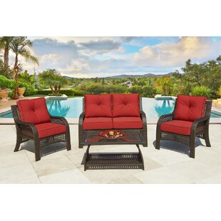 Willem Boxed 4 Piece Sofa Seating Group with Cushions