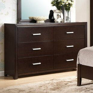 Latitude Run Wen 6 Drawer Double Dresser
