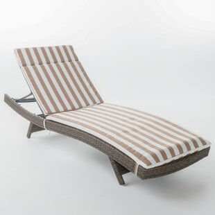 Darby Home Co Roma Outdoor Wicker Lounge with Cushion