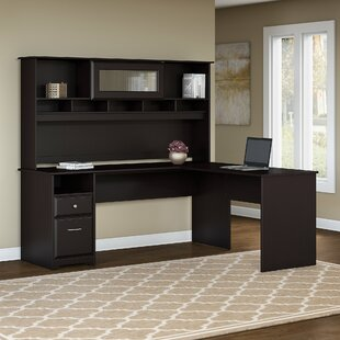 Hillsdale L-Shaped Executive Desk with Hutch