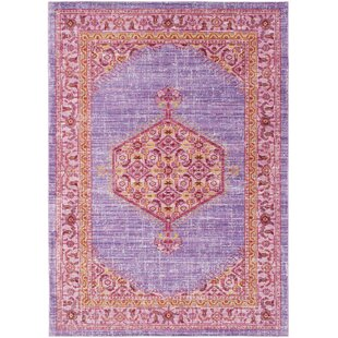 Fields Bright Purple/Pale Blue Area Rug by Mistana