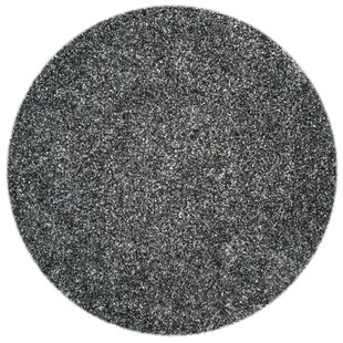Anna Hand-Tufted/Hand-Hooked Charcoal Area Rug by Wade Logan