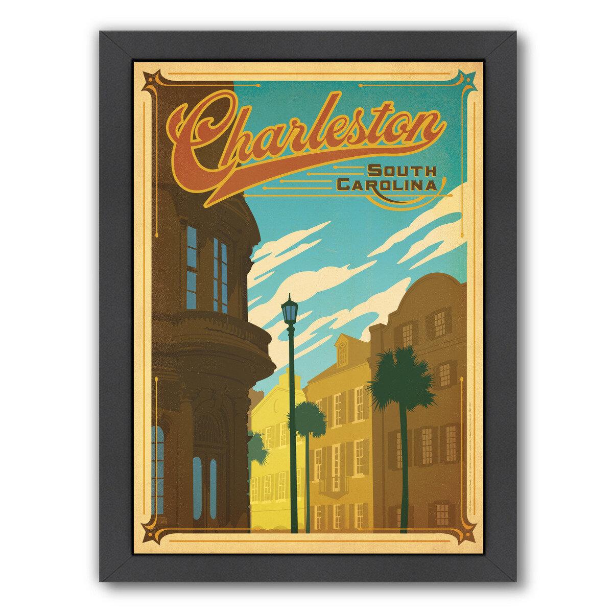 East Urban Home Vintage Charleston Framed Advertisement Wayfair