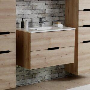 Held Möbel 80 cm Wandmontierter Waschtisch Modena